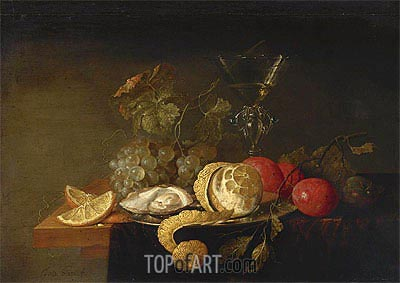 Still Life with a Peeled Lemon, 1651 | de Heem| Gemälde Reproduktion