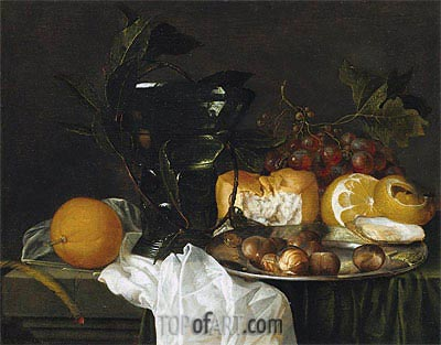 Still Life with a Roemer,  | de Heem | Painting Reproduction
