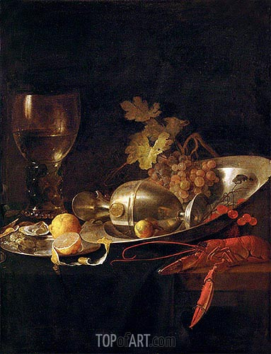 Breakfast Still Life, c.1635 | de Heem | Painting Reproduction