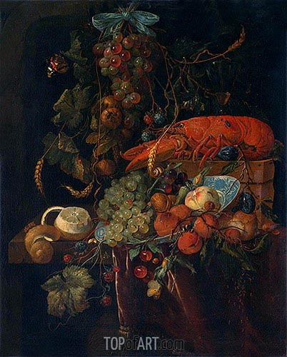 Still Life with Fruit and Lobster, undated | de Heem | Painting Reproduction