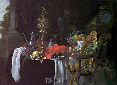 Still Life: A Banqueting Scene, c.1640/41 | de Heem | Painting Reproduction