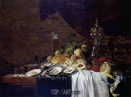 de Heem | Still Life with Fruit and Oysters, 1643