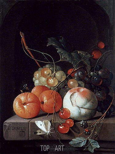 Still Life of Fruit, undated | de Heem| Painting Reproduction