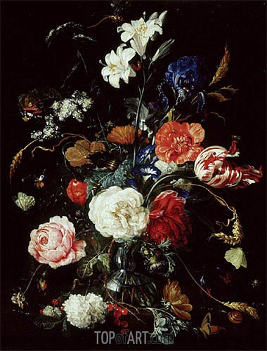 A Vase of Flowers, c.1650/60 | de Heem | Painting Reproduction