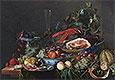 Still Life with Ham, Lobster and Fruit | Jan Davidsz de Heem