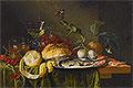 Still Life with Glass of Wine and Herring | Jan Davidsz de Heem