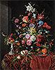 Flowers in a Glass Vase with Birds | Jan Davidsz de Heem