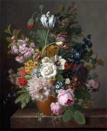 Still Life of Flowers, undated von van Dael | Gemälde-Reproduktion