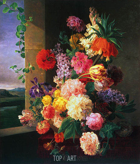 Flowers Before a Window, 1789 | van Dael | Painting Reproduction