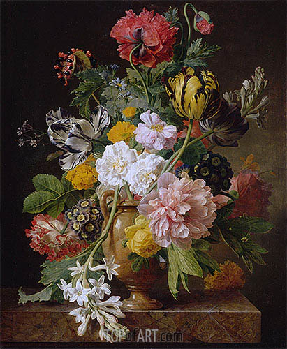 The Broken Tuberose, 1807 | van Dael | Painting Reproduction