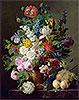 Vase of Flowers, Grapes and Peaches | Jan Frans van Dael