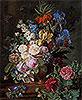 Flowers in Urn on a Stone Ledge | Jan Frans van Dael