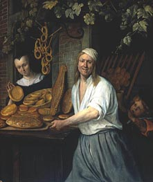 Leiden Baker Arend Oostwaert and His Wife, c.1658 by Jan Steen | Painting Reproduction