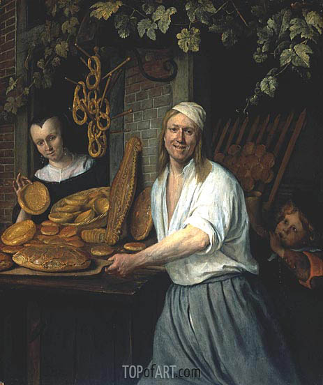 Jan Steen | Leiden Baker Arend Oostwaert and His Wife, c.1658