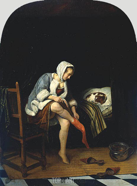Jan Steen | Woman at her Toilet, c.1661/65