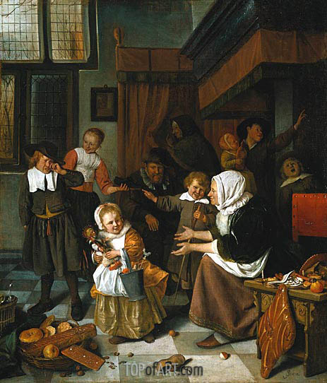 The Feast of Saint Nicholas, c.1663/65 | Jan Steen | Painting Reproduction