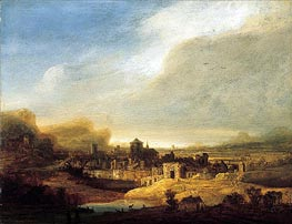 Panoramic Landscape, 1640 by Jan Lievens | Painting Reproduction