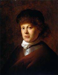 Portrait of Rembrandt van Rijn, c.1630 von Jan Lievens | Gemälde-Reproduktion