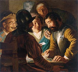 The Card Players, c.1622/24 by Jan Lievens | Painting Reproduction