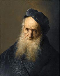 A Tronie of an Old Man, undated by Jan Lievens | Painting Reproduction