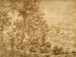 Wooded Landscape, undated by Jan Lievens | Painting Reproduction