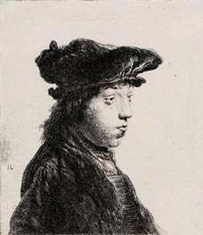Young Man in a Cap, c.1631 by Jan Lievens | Painting Reproduction