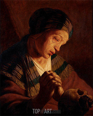 St. Mary Magdalene at Prayer, undated | Jan Lievens | Gemälde Reproduktion