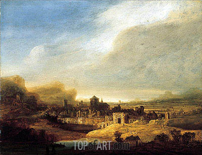 Panoramic Landscape, 1640 | Jan Lievens | Gemälde Reproduktion
