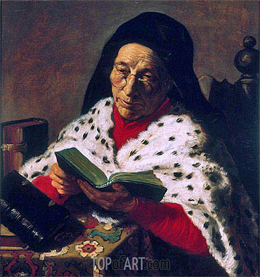 Old Woman Reading, undated | Jan Lievens| Painting Reproduction