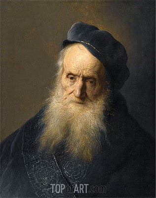 A Tronie of an Old Man, undated | Jan Lievens| Painting Reproduction