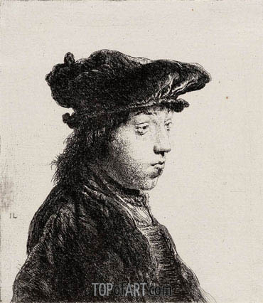 Young Man in a Cap, c.1631 | Jan Lievens | Gemälde Reproduktion