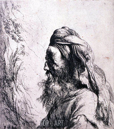 Jan Lievens | Head of an Oriental, undated