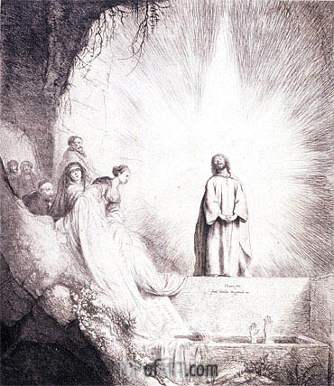The Raising of Lazarus, undated | Jan Lievens | Gemälde Reproduktion