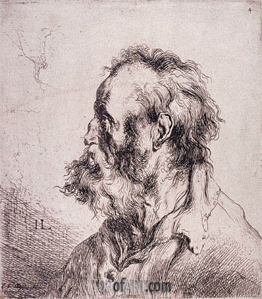 Bust of an Old Man, undated | Jan Lievens| Painting Reproduction