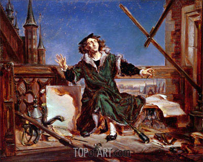 Nicolaus Copernicus the Astronomer,  | Jan Matejko | Painting Reproduction