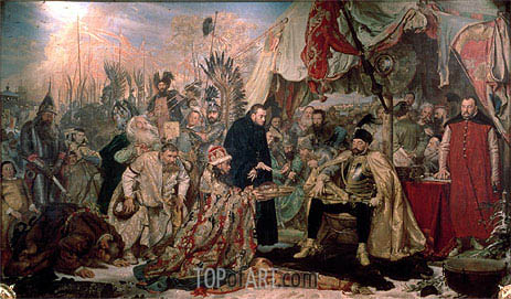Bathory at Pskov, 1872 | Jan Matejko| Painting Reproduction