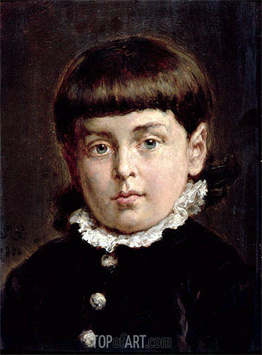 Portrait of a Young Boy, 1883 | Jan Matejko| Painting Reproduction