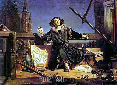 Astronomer Copernicus (Conversation with God), 1872 | Jan Matejko | Painting Reproduction