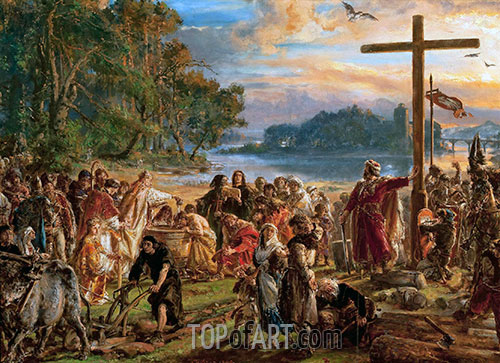 Baptism of Poland, 1889 | Jan Matejko | Painting Reproduction