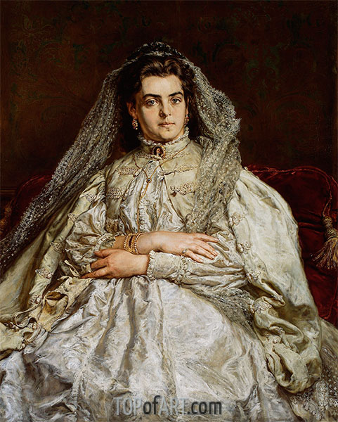 Portrait of the Artist's Wife Teodora, 1879 | Jan Matejko | Painting Reproduction