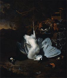 Dead Birds and Hunting Equipment in a Landscape | Jan Weenix | outdated