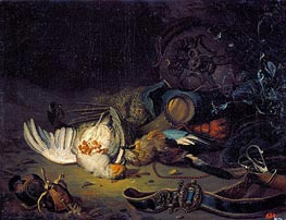Still Life with Dead Birds, undated by Jan Weenix | Painting Reproduction