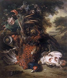 Hunting Still Life with Dead Birds, c.1680 by Jan Weenix | Painting Reproduction