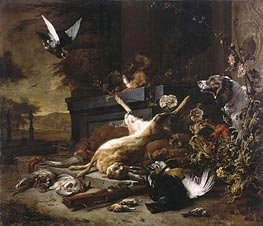 Still Life of Game, c.1680 by Jan Weenix | Painting Reproduction