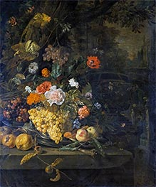 Flowers and Fruit, 1676 by Jan Weenix | Painting Reproduction