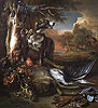A Deerhound with Dead Game and Implements of the Chase | Jan Weenix