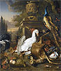Still Life with Peacock, Swan and Deer | Jan Weenix