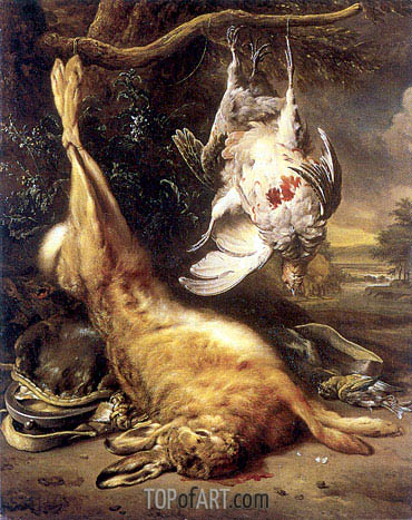 Dead Hare and Partridges, 1702 | Jan Weenix | Painting Reproduction