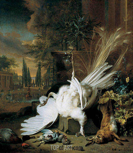 The White Peacock, 1692 | Jan Weenix | Painting Reproduction
