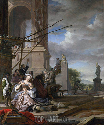 An Italian Courtyard, c.1660/65 | Jan Weenix | Painting Reproduction